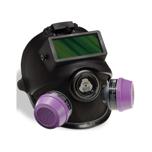 5400 Series Low Maintenance Full Face Respirator with welding shield