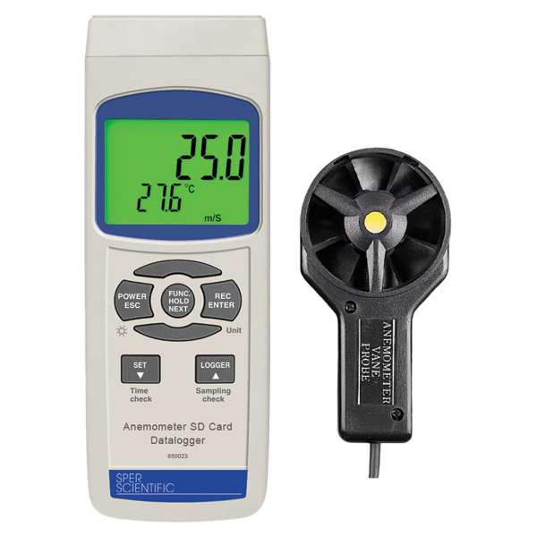 Vane Anemometer with SD Card Logger Image