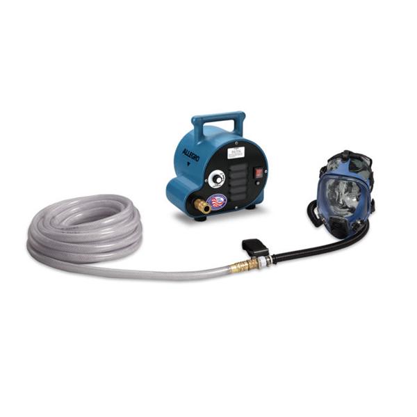 full mask breathing air blower system