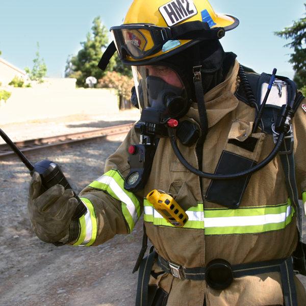 Fireman using Echoview Host & ToxiRae Pro