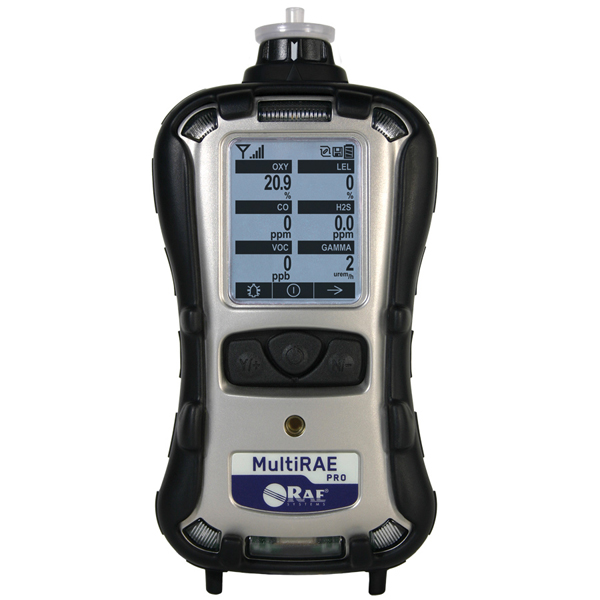MultiRae Pro 1 to 6 Gas Detector with PID and Gamma Sensors