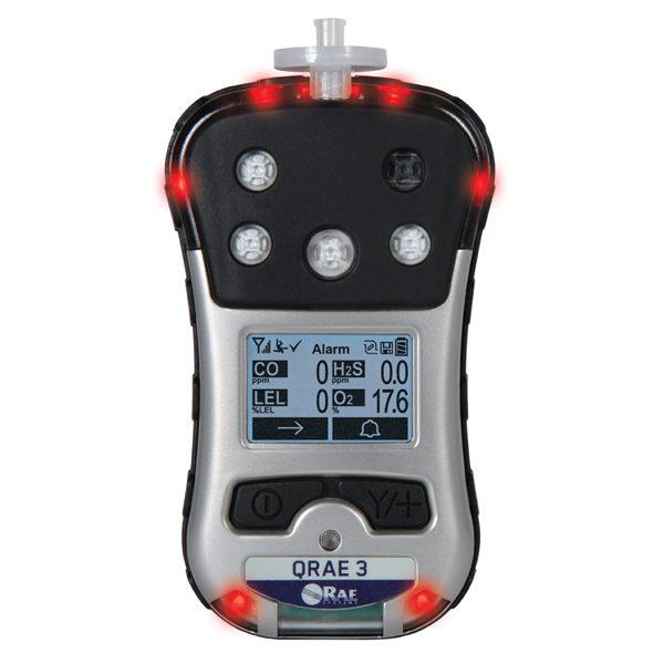 QRae 3 Multi Gas Detector in Alarm