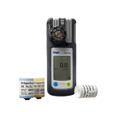 Draeger X-am 5100 Single Gas Detector for HF, HCl, H2O2 or Hydrazine Image